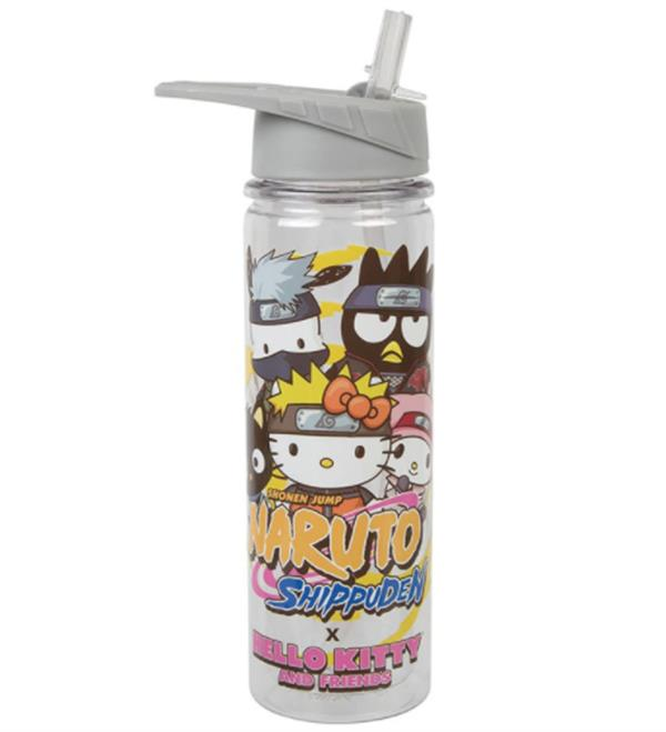 HELLO KITTY & FRIENDS x NARUTO 16 OZ UV TRITAN WATER BOTTLE