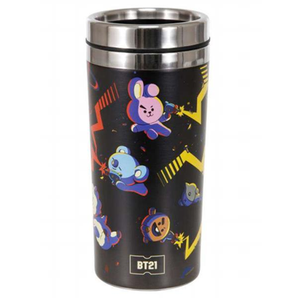 BT21 SPACE STAINLESS STEEL DOUBLE WALLED TRAVEL MUG / TUMBLER 450ML