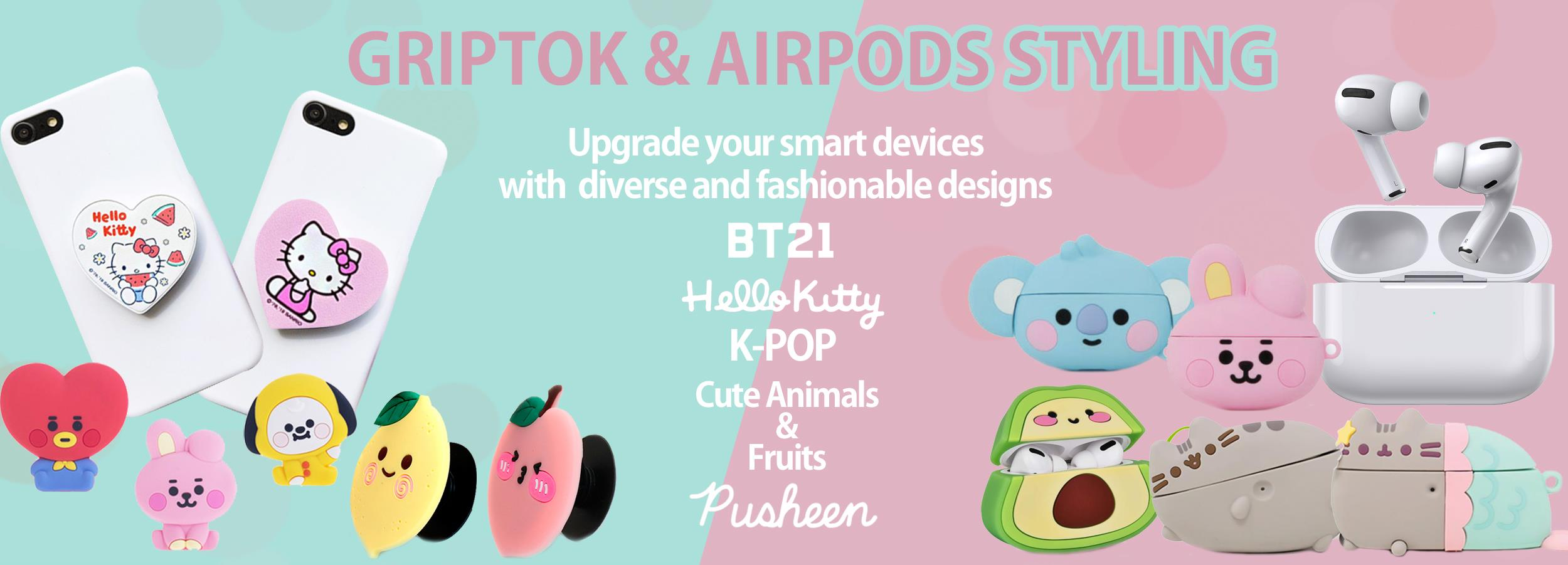 Griptok and Airpods Cases